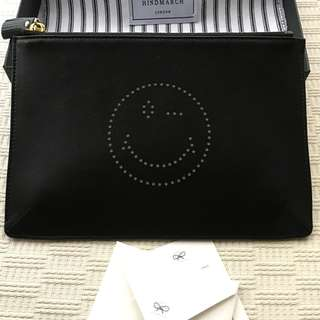 Anya Hindmarch   leather pouch bag .....