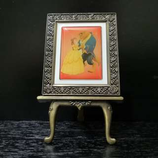 Beauty and the beast miniature photo frame