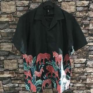 Aloha hawaiian shirt orbis x sunset people project kemeja l