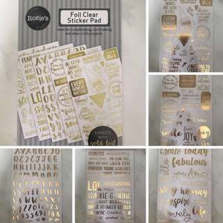 Foil Clear Stickers Pad