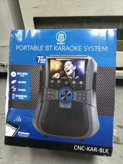 Portable bluetooth karaoke 2 mic and remote