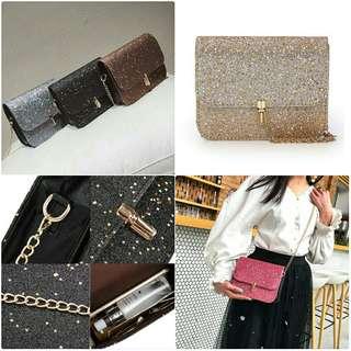 Glitter Sling Bag