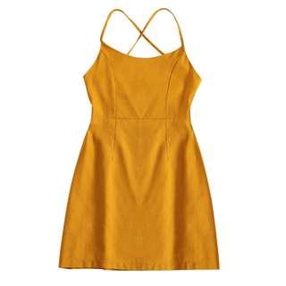 Zaful Lace Up Slip Club Mini Dress