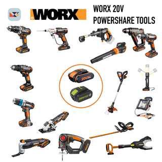 WORX 20v Battery Powershare Tools