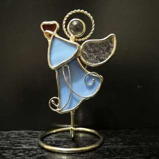 Art glass angel figurine