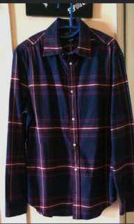 (S) H&M Premium cotton relaxed fit flannel