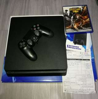 Ps4 slim 500gn good as new with free game