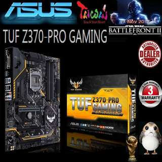 ASUS TUF Z370-PRO GAMING MOTHERBOARD (3 Years Warranty), + Bundle Together with Intel LGA1151 Coffee Lake CPU..., Type of CPU price shown below...