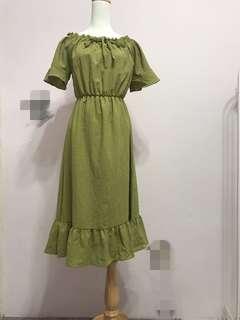 🚚 麻質洋裝
