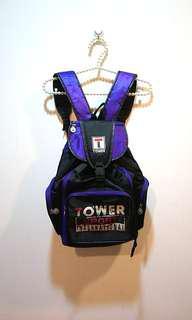 🚚 夢幻紫色古著後背包