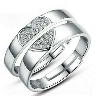 Couple Ring Set 925 Sterling Silver