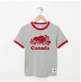 🚚 Roots 加拿大系列短袖上衣 滾邊上衣