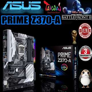 ASUS Z370-A PRIME MOTHERBOARD ( 3 Years Warranty ), + Bundle Together with Intel LGA1151 Coffee Lake CPU..., Type of CPU price shown below...