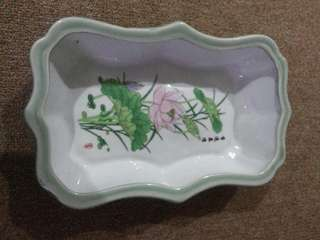 Keramik Vintages Mangkok Motif Flower Made in China