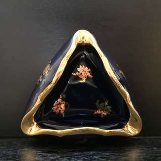 Limorges blue porcelain Ashtray