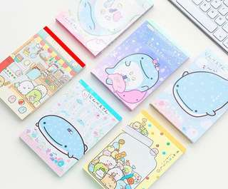 San X jinbesan and Sumikko Gurashi notepads