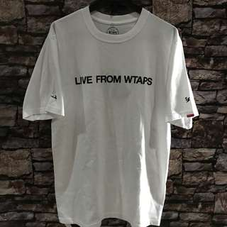 WTAPS live tee live from wtaps white size l new