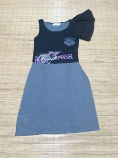 Re Plus mini dress cotton