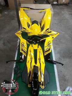 Coverset Modenas Dinamik 120 Kuning Hitam Harimau Malaya