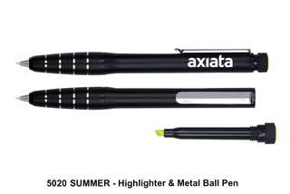 [Wholesale] SUMMER - Highlighter & Metal Ball Pen