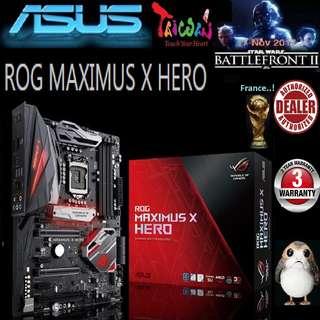 ASUS ROG MAXIMUS X HERO Z370 MOTHERBOARD (3 Years Warranty)