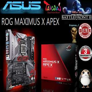 ASUS ROG MAXIMUS X APEX Z370 MOTHERBOARD (3 Years Warranty)