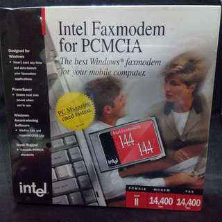 Intel Faxmodem for PCMCIA. New, unused, still in wrapping