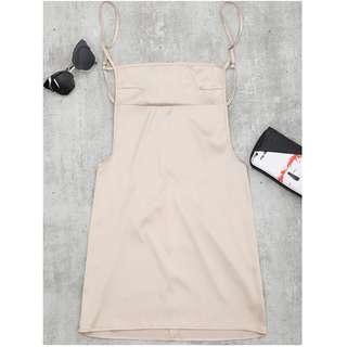 Zaful Backless Mini Slip Dress