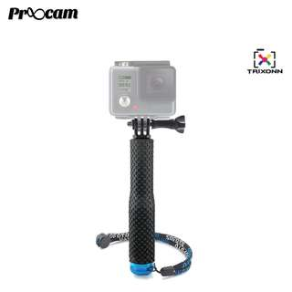 Proocam PRO-F208 36inch Aluminium Monopod goeasy pole with Mount Adapter for GoPro SJCAM
