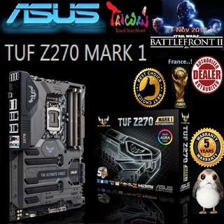 ASUS TUF Z270 MARK 1 MOTHERBOARD (5 Years Warranty) + Bundle Together with Intel LGA1151 Coffee Lake CPU..., Type of CPU price shown below...
