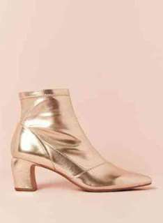Gold Ankle Boots forever 21