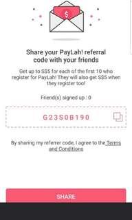Paylah new register