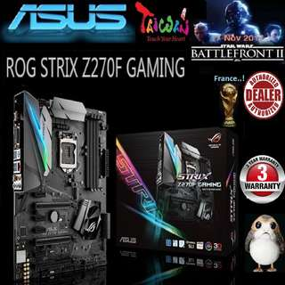 ASUS  Z270F ROG STRIX GAMING MOTHERBOARD. ( 3 Years Warranty )