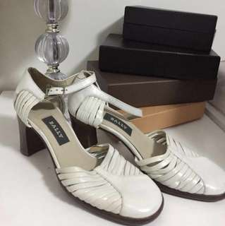 AUTHENTIC Bally white shoes