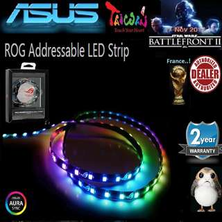 Asus ROG Addressable RGB LED Strip with magnetic backing and Aura Sync RGB 60CM