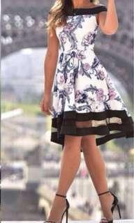 NEW off the shoulder floral dress, Sz 8-10