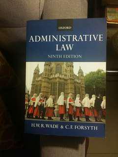 Administrative Law ( H.W.R. Wade & C.Forsyth)