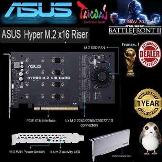 ASUS HYPER M.2 X16 QUAD M.2 CARD (1 Years Warranty)