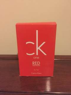 Ck one red edition 50ml eau de toilette and 100ml body wash