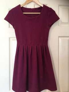 Dark purple skater dress