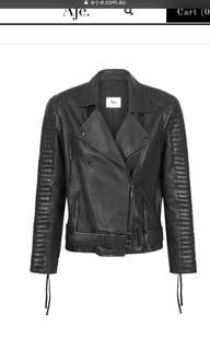 AJE Erichson Leather Jacket 10 RRP$895
