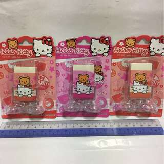 Hello Kitty Eraser x3