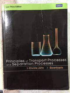 Principles of Transport Processes and Separation Processes