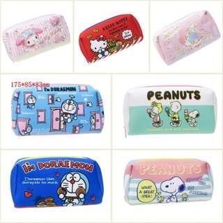 (訂購) Hellokitty, Mymelody Melody, Littletwinstars, Doraemon 多啦a夢 叮噹, snoopy - 筆袋