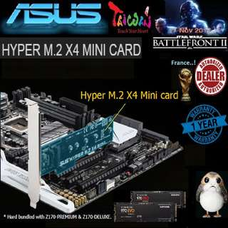 ASUS HYPER M.2 X4 MINI CARD (1 Years Warranty)