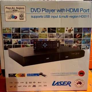 Laser Multi Region DVD Player - New