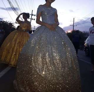 Glittered gown for rent