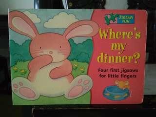 Hardcover book Where's my dinner?