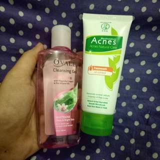 Cleansing Gel Ovale + Acnes Facewash Oil Control