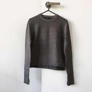 Zara Stripe Crop Knitwear Sweater